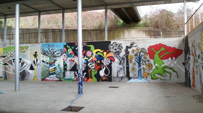 Leioa UPV/EHU Frontón graffiti grafiti Leioa Arboretum UPV EHU